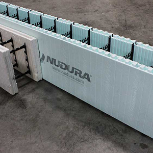 NUDURA Forms offer a structure built out of Concrete, one of the most durable building materials